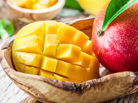 Food Travel Zanzibar mango in wood