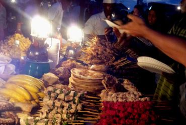 Mishkaki Zanzibar food at Forodhani