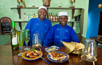 Staff at House of Spices, Zanzibar