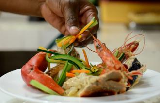 Zanzibar retreat prawns dish