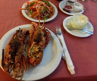 Lobster at Chez Hassan Jambiani