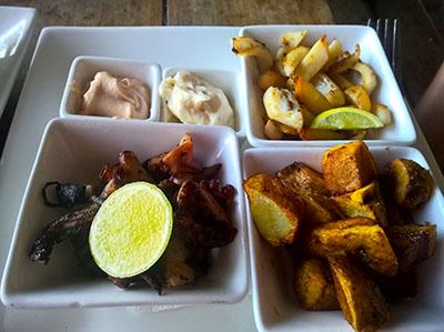 Seafood on a plate at Taste Zanzibar