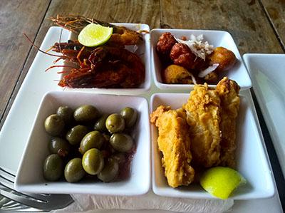 Seafood starter at Nur at Taste Zanzibar